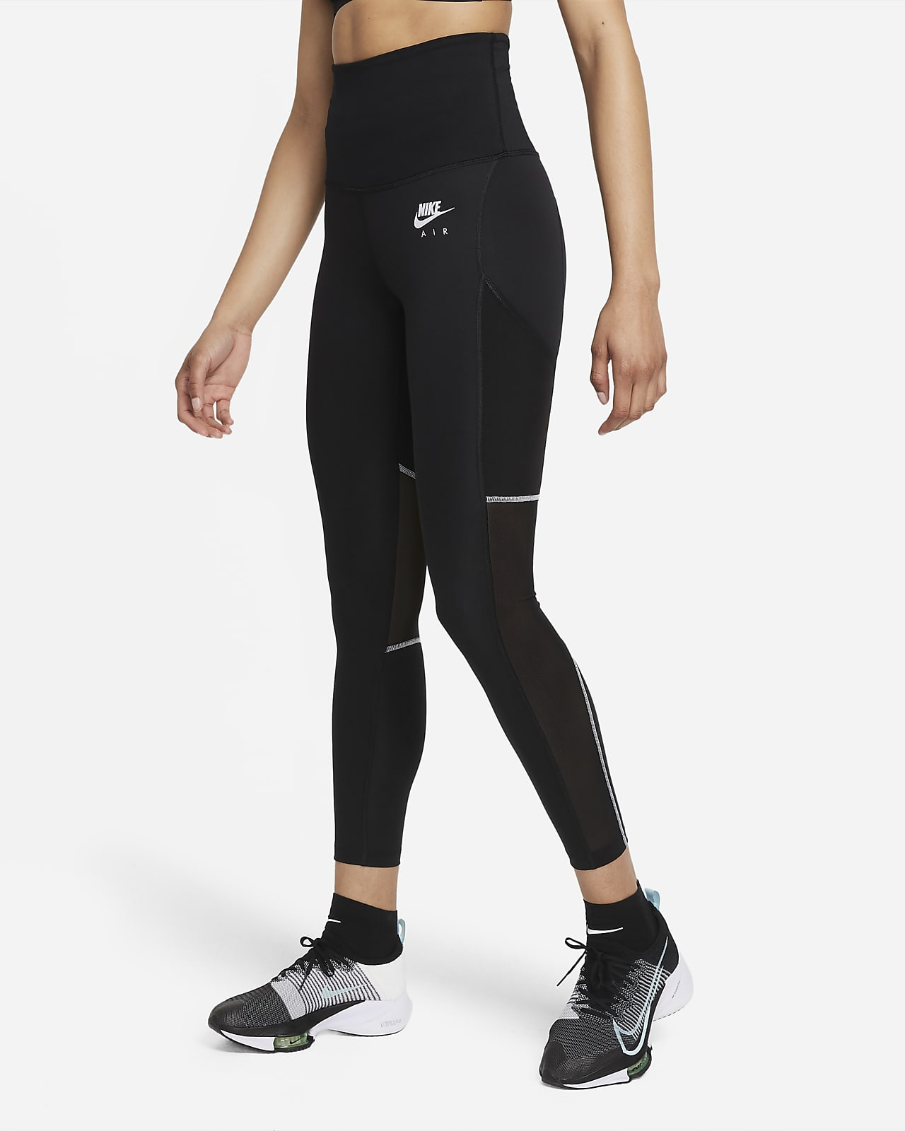 Nike Air Dri-FIT 7/8-hardlooplegging met omvouwbare taille voor dames