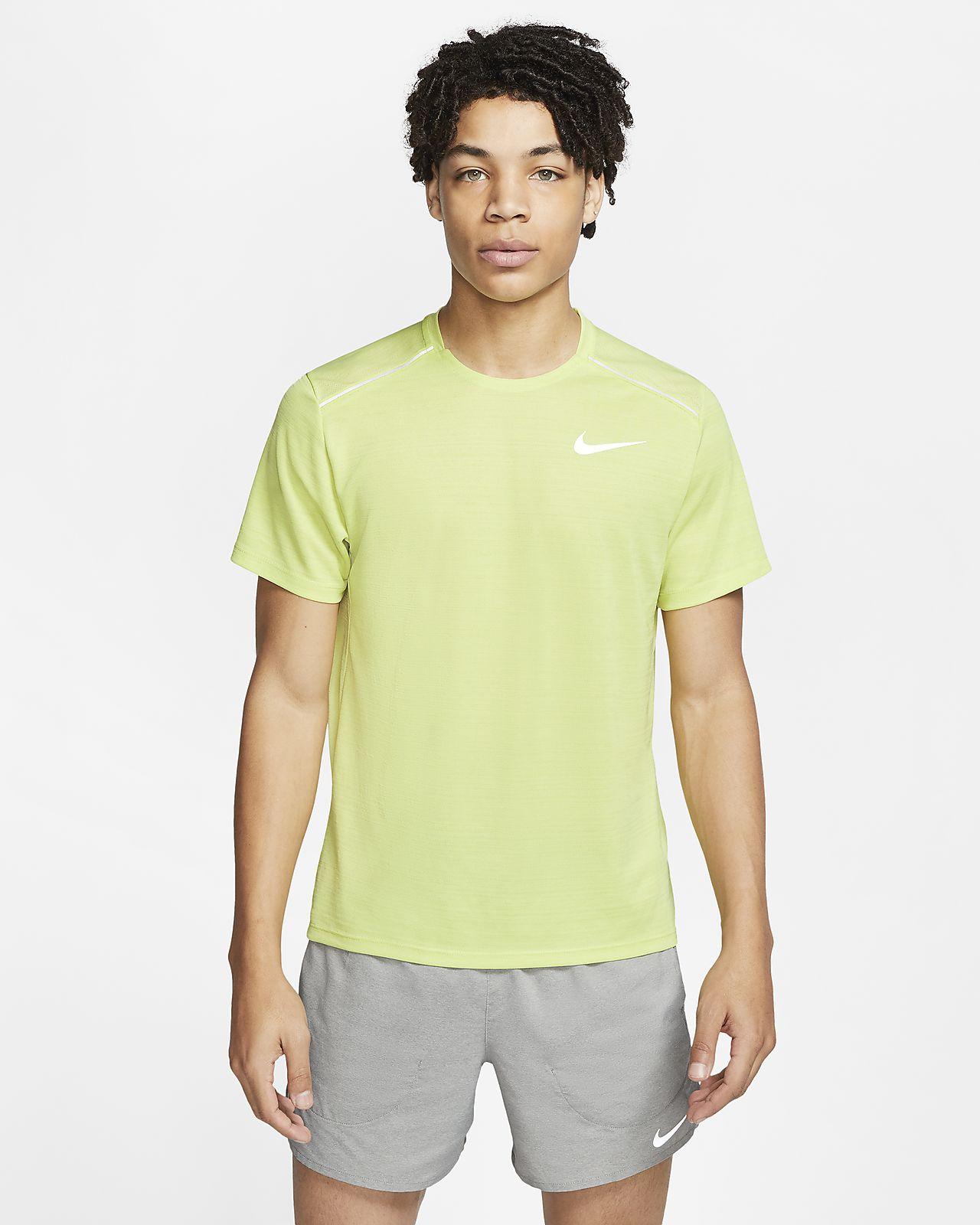 Prenda superior de running de manga corta para hombre Nike Dri-FIT Miler
