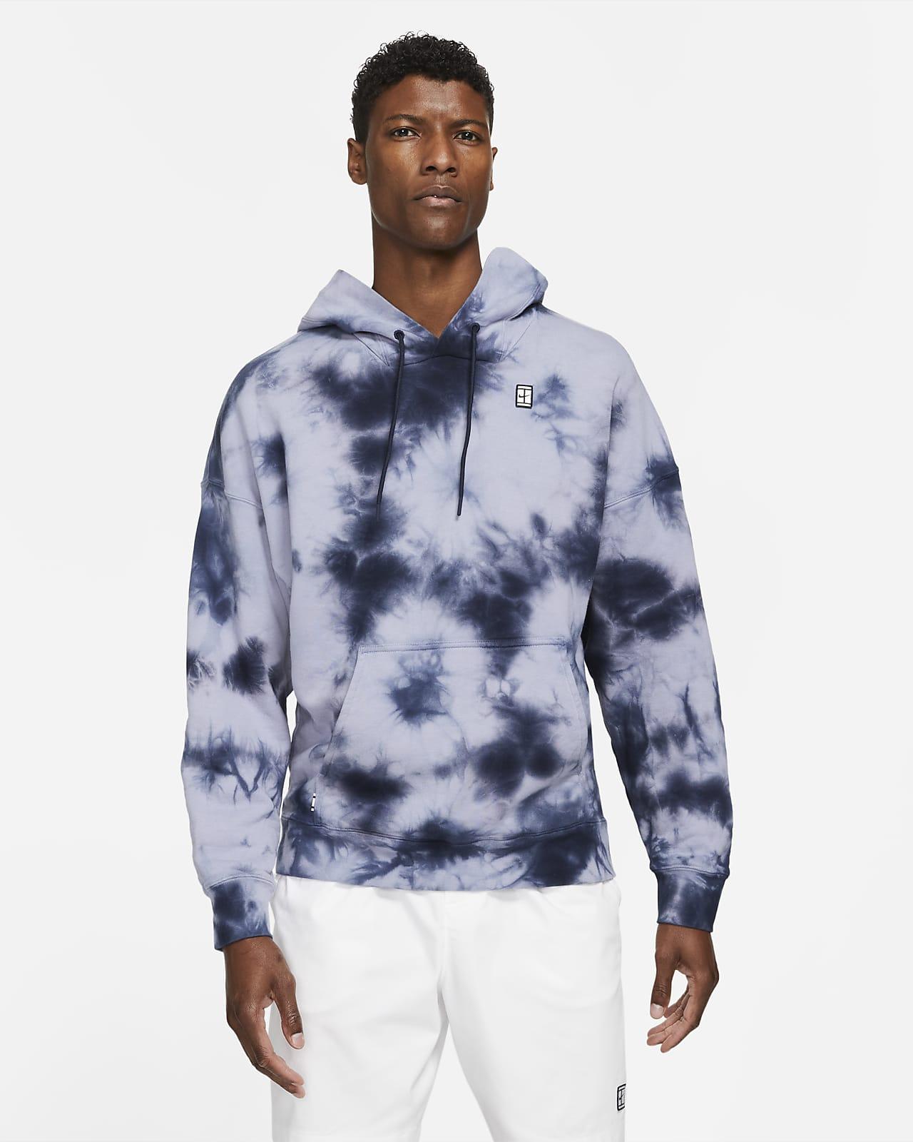 NikeCourt tennishettegenser i fleece med batikkmønster til herre