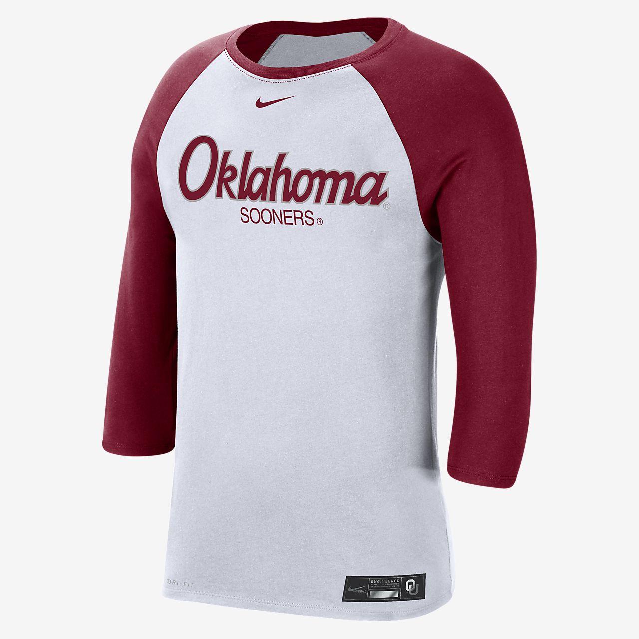 Nike College Dri-FIT (Oklahoma) Men's 3/4-Sleeve T-Shirt