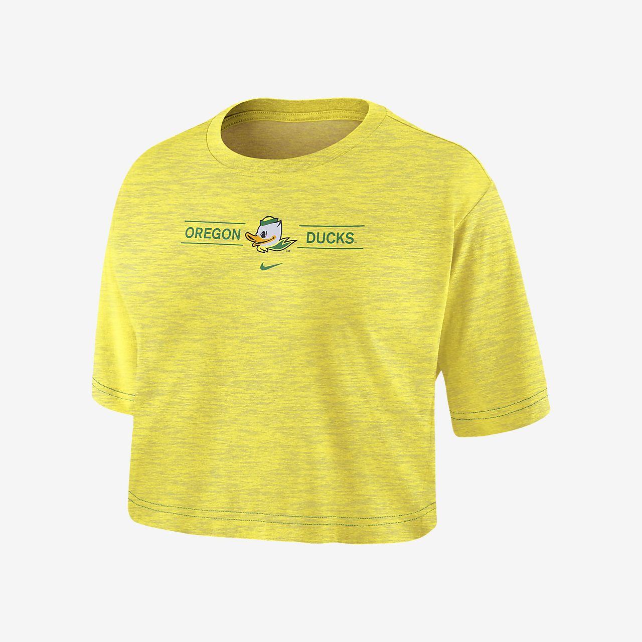 Nike College Dri-FIT (Oregon) Women's Cropped T-Shirt