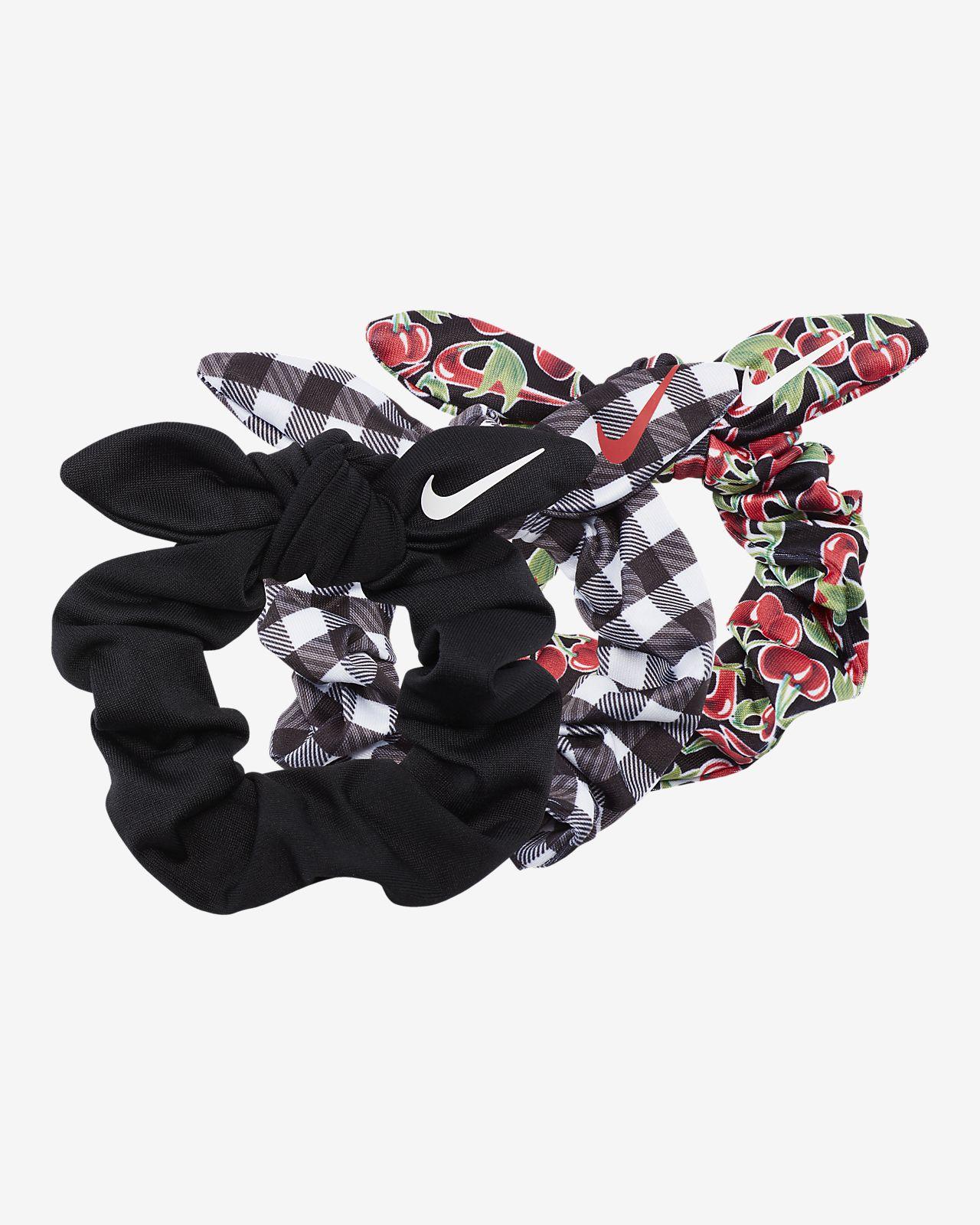 Cintas para el pelo fruncidas Nike (paquete de 3)