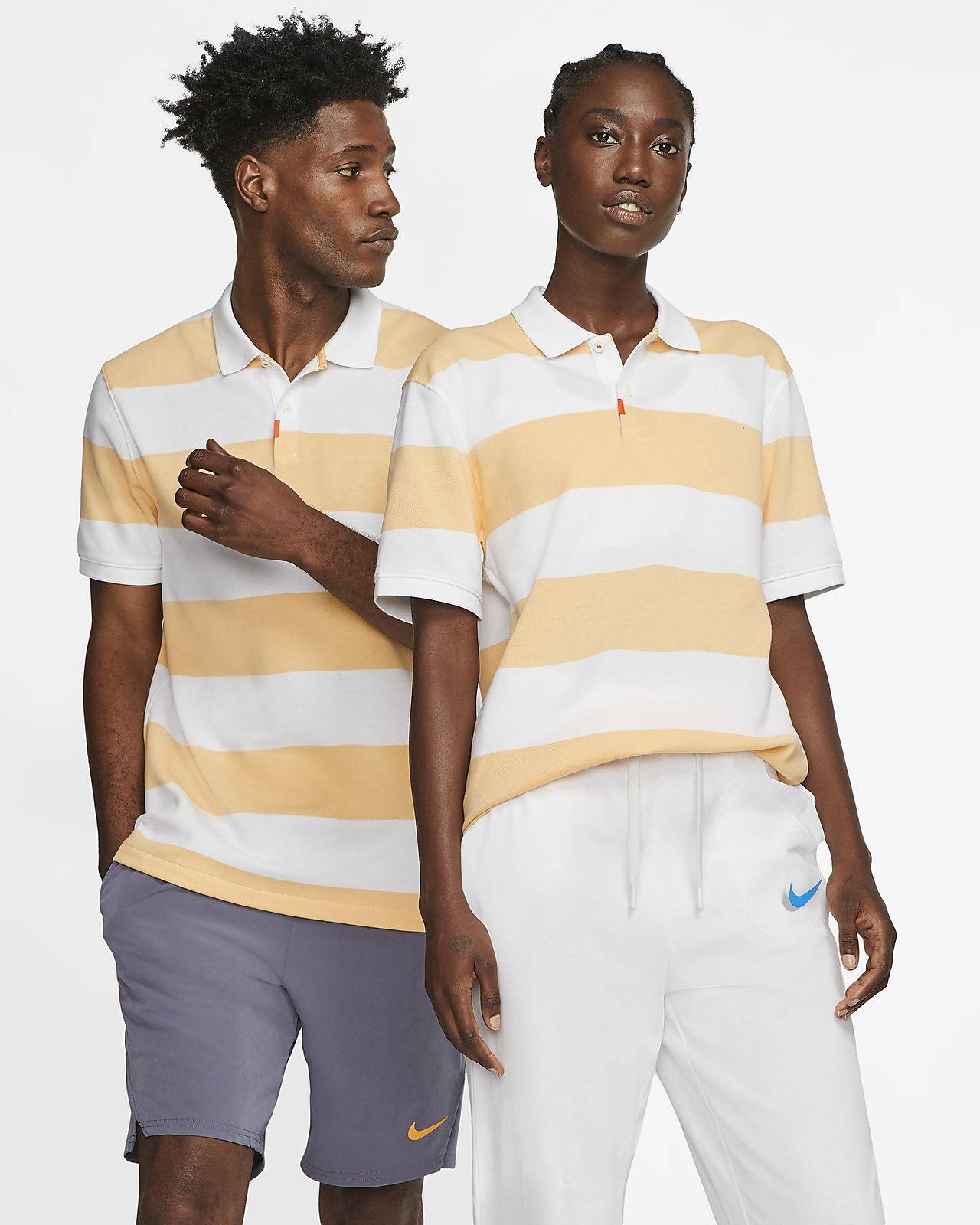 Unisex ριγέ μπλούζα πόλο με στενή εφαρμογή The Nike Polo