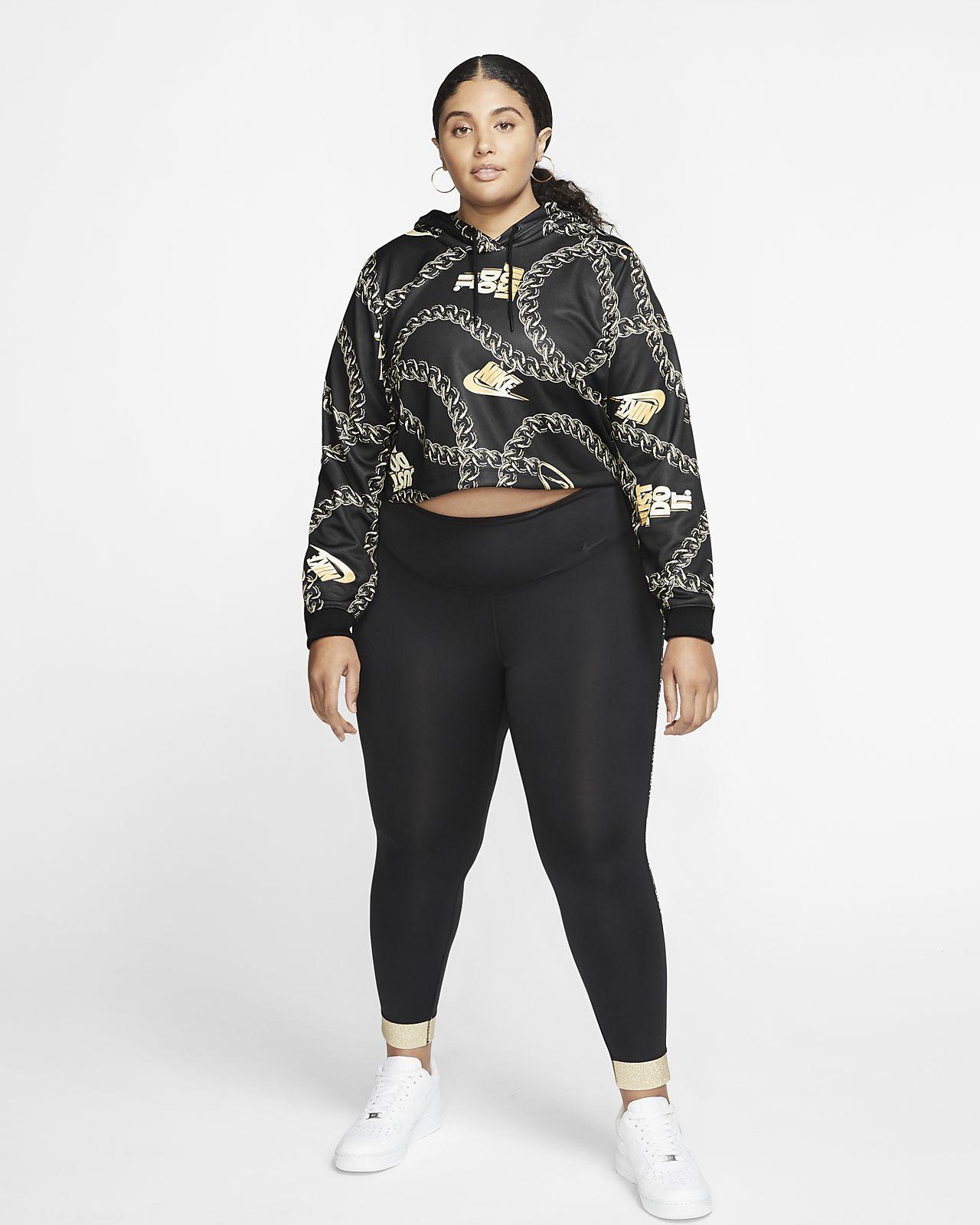Nike Sportswear Icon Clash mintás, rövidített női kapucnis