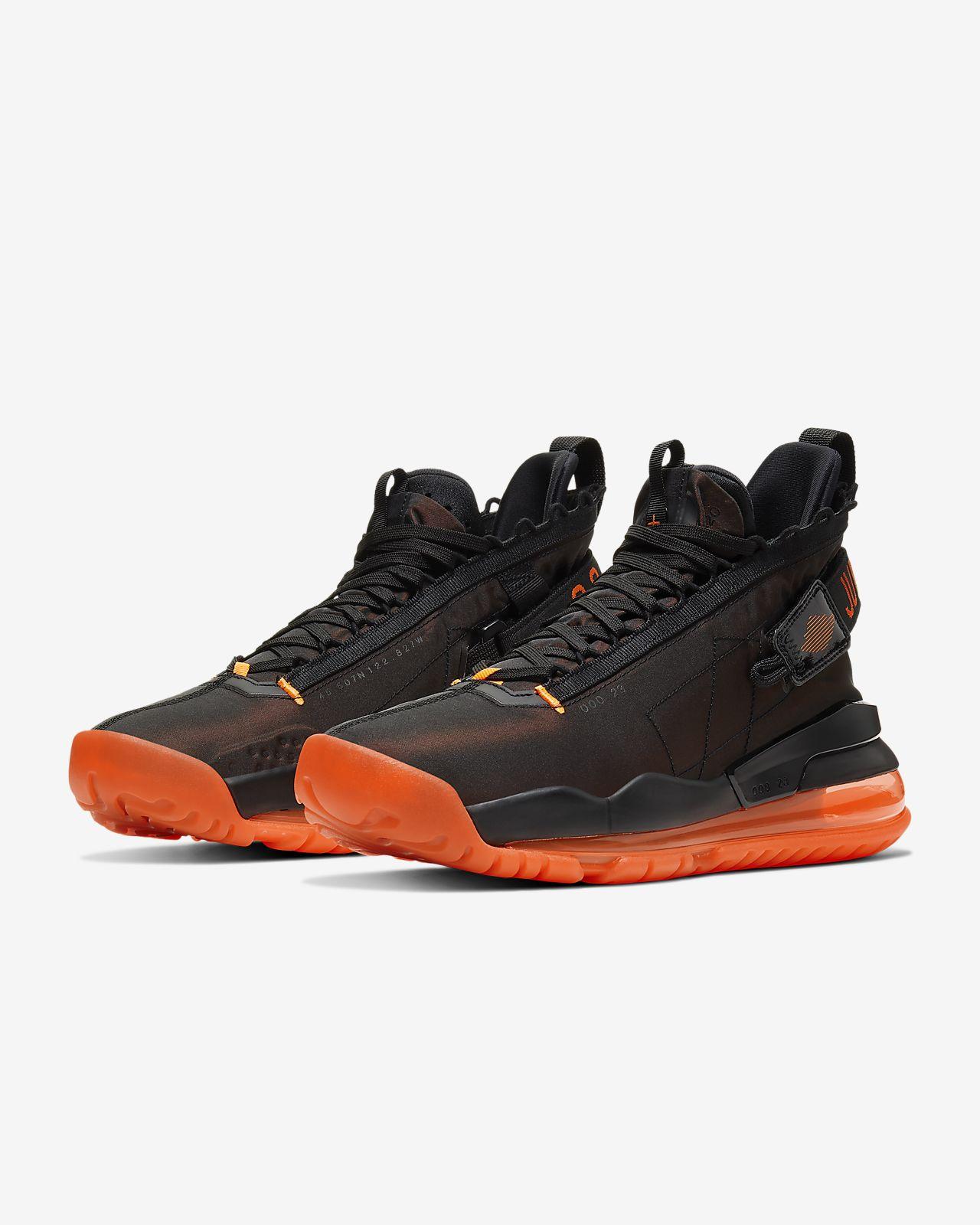 nike air jordan max aura black orange