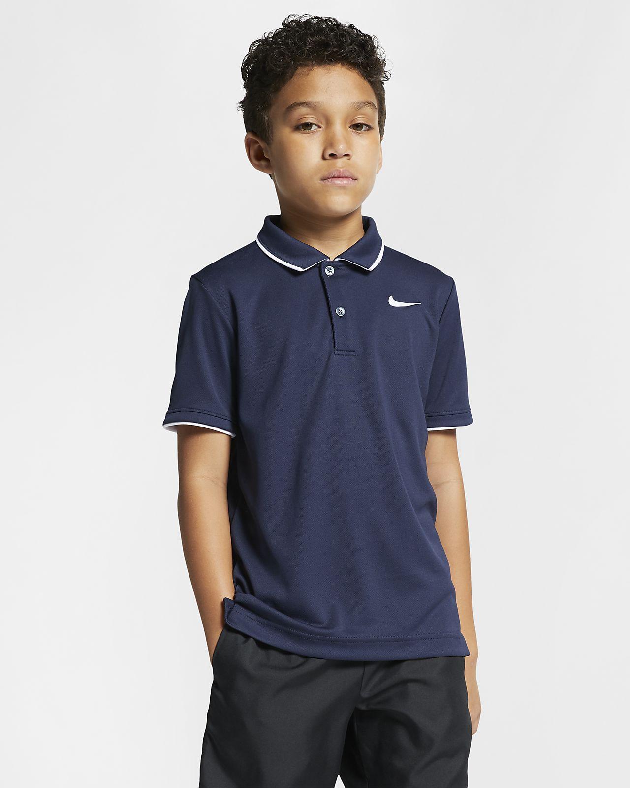 NikeCourt Dri-FIT Big Kids' (Boys') Tennis Polo