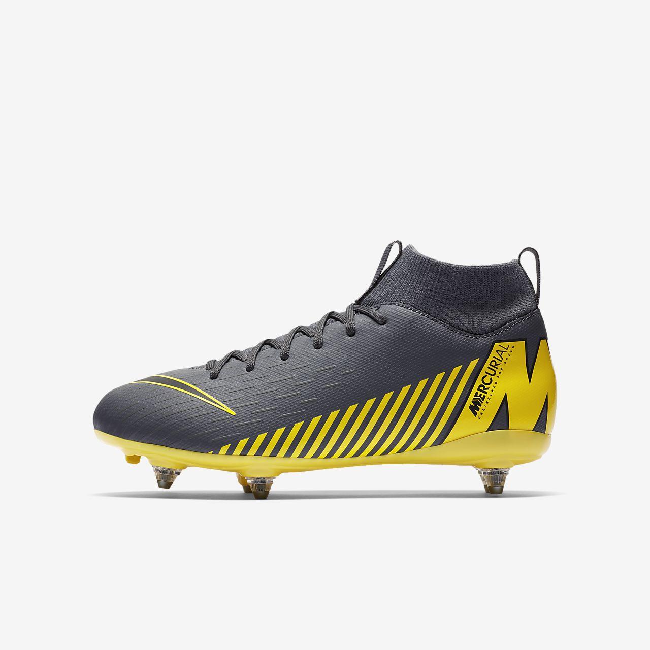 Nike Jr. Mercurial Superfly VI Academy SG PRO Voetbalschoen voor kleuterskids (zachte ondergrond)