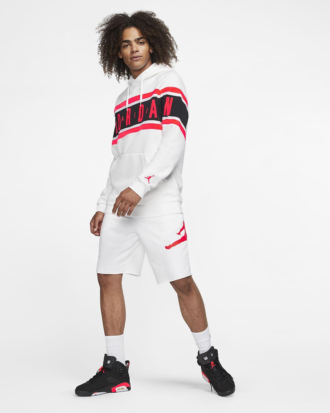 Fleecehuvtröja Jordan Air för män. Nike SE