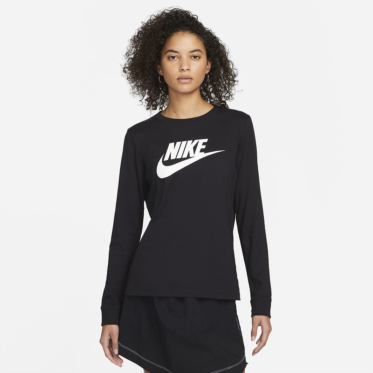 Nike Sportswear Langarm-T-Shirt für Damen. Nike DE