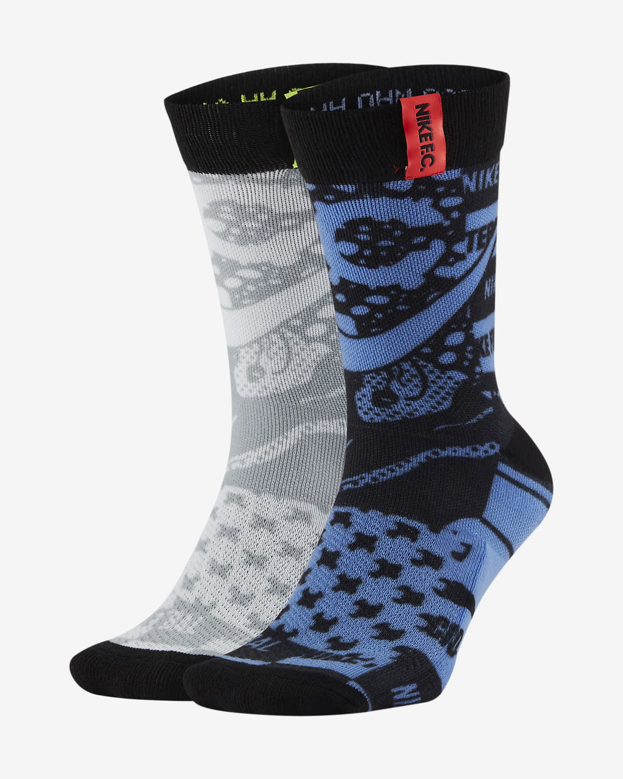 Nike F.C. Graphic Football Crew Socks (2 Pairs)