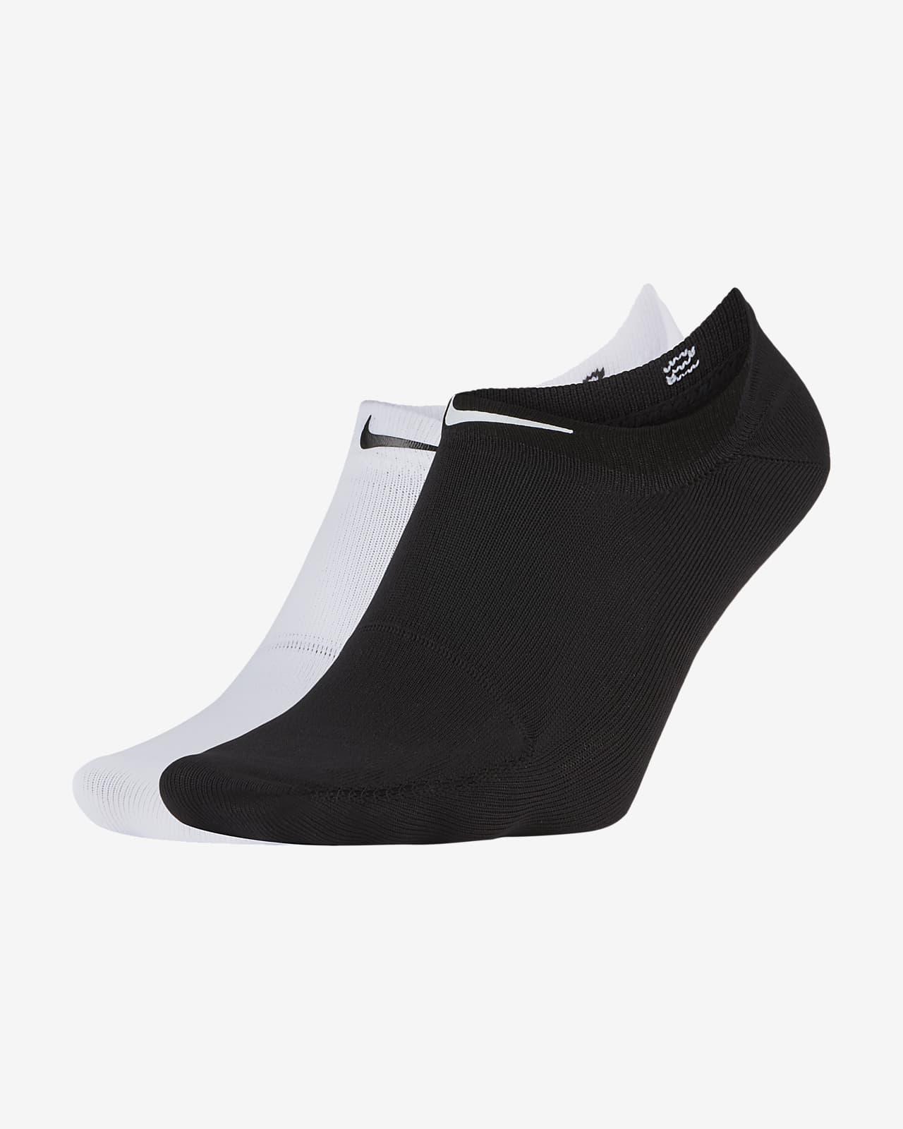 ถุงเท้าเทรนนิ่งผู้หญิงแบบซ่อน Nike One (2 คู่)