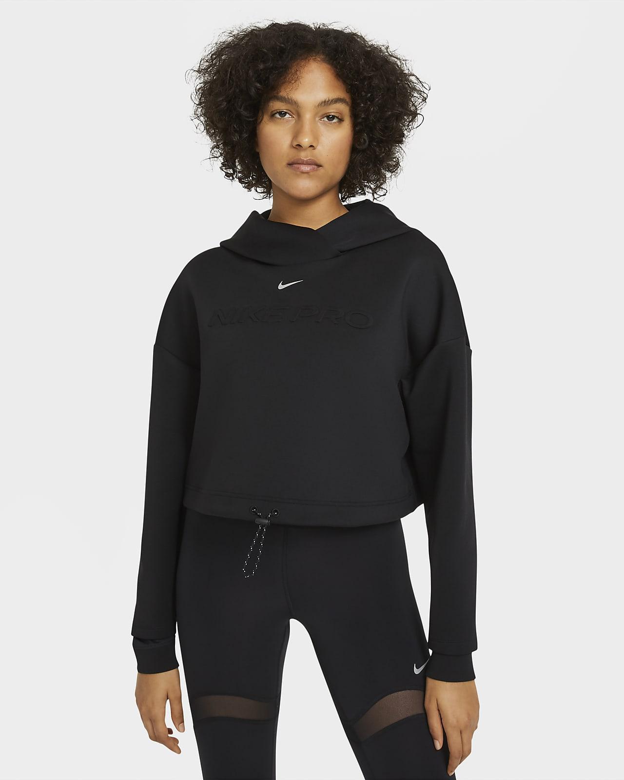 Γυναικεία μπλούζα με κουκούλα Nike Pro