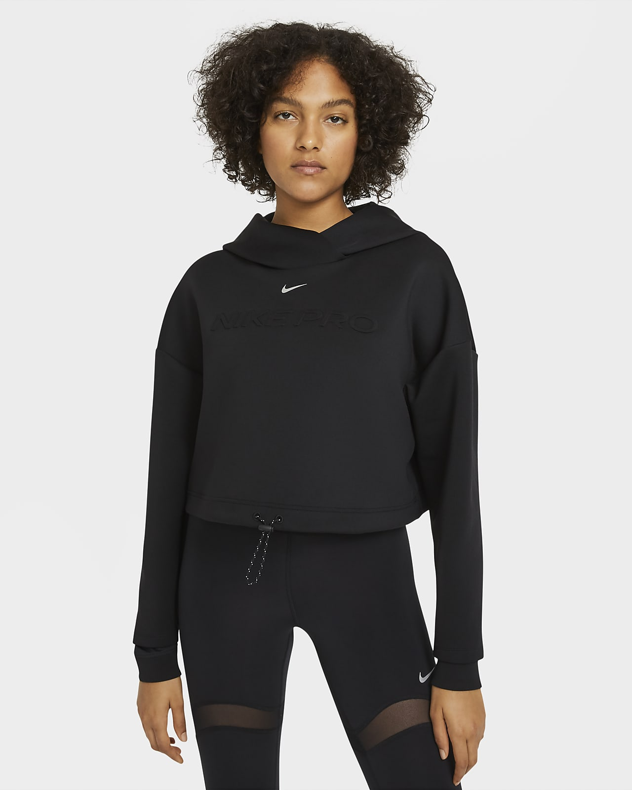 Nike Pro Kadın Kapüşonlu Üstü
