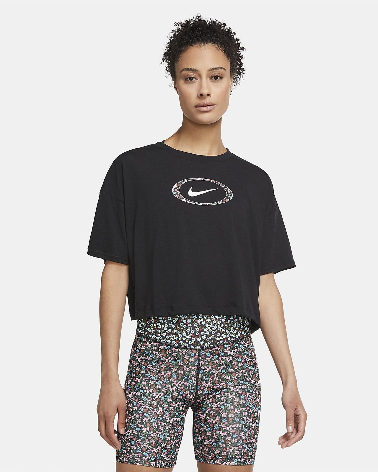 Женская укороченная футболка для тренинга Nike Dri-FIT