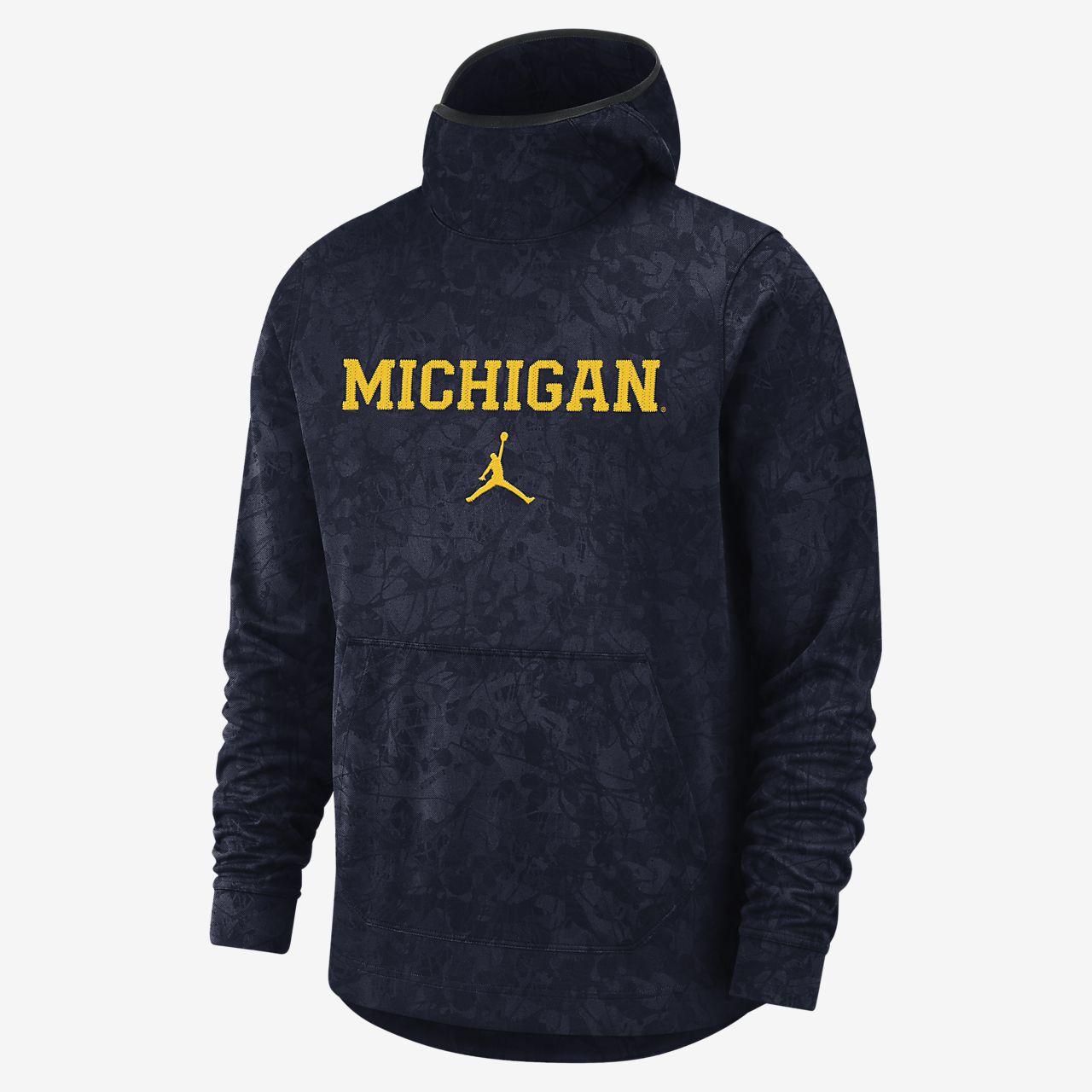 Jordan College Dri-FIT Spotlight (Michigan) Men's Pullover Hoodie
