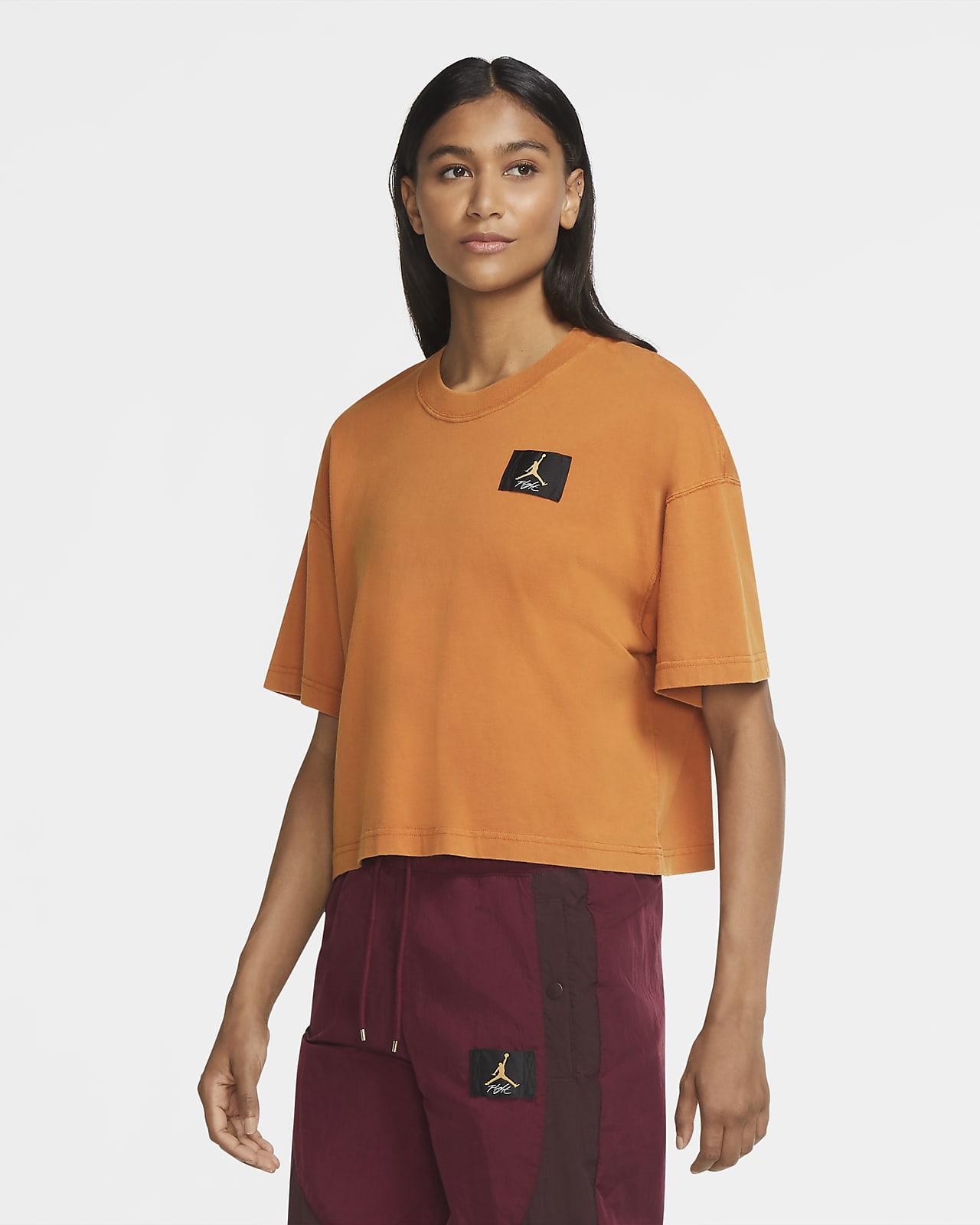 เสื้อยืดแขนสั้นทรงหลวมผู้หญิง Jordan Essentials
