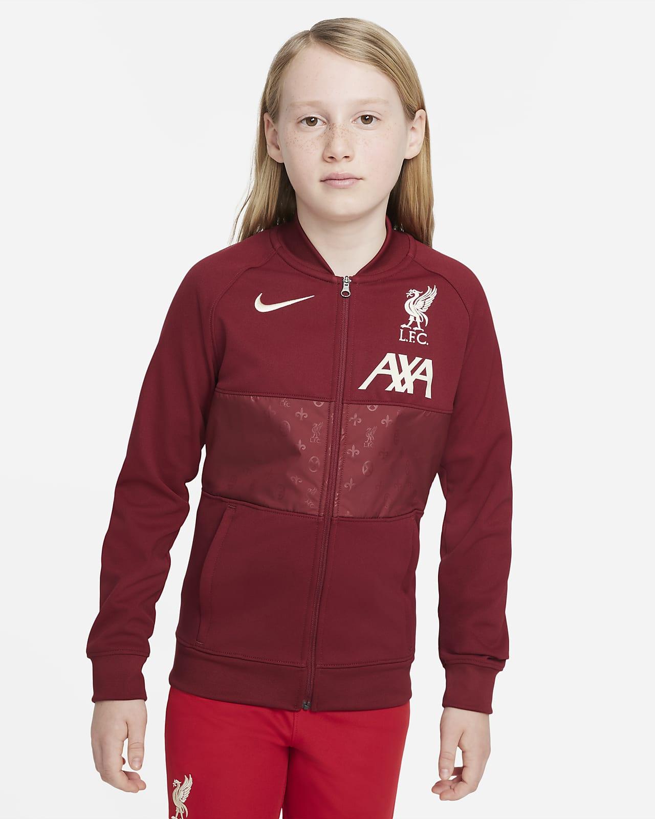 Liverpool FC Fußball Track-Jacket mit durchgehendem Reißverschluss für ältere Kinder