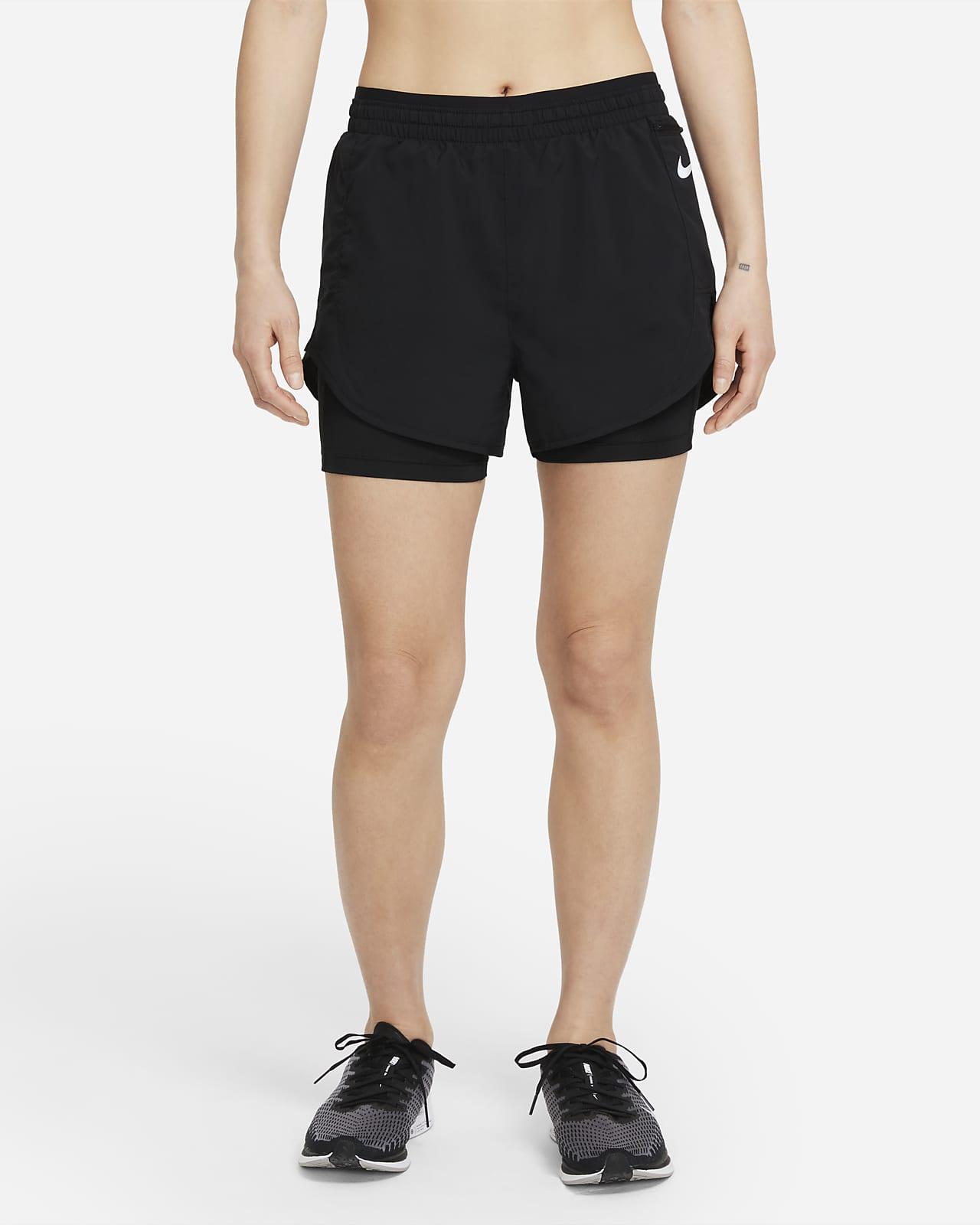 กางเกงวิ่งขาสั้น 2-In-1 ผู้หญิง Nike Tempo Luxe