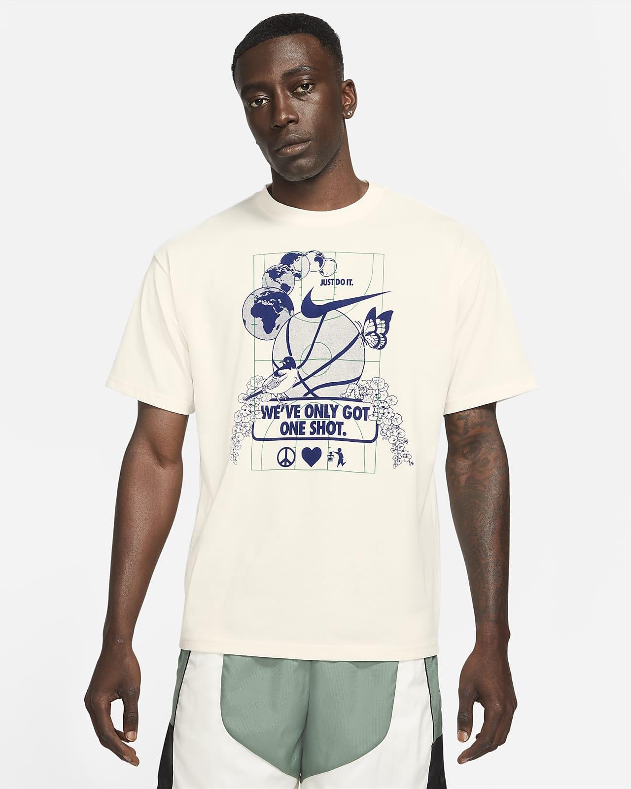 เสื้อยืดบาสเก็ตบอลผู้ชาย Nike