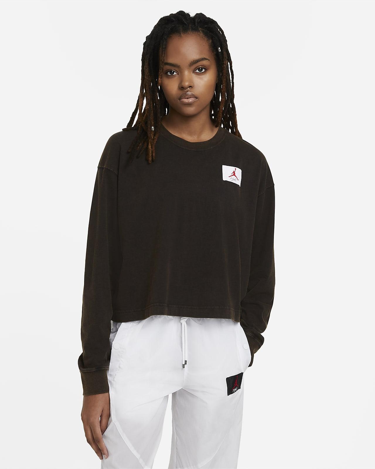 Jordan Essential szögletes fazonú, hosszú ujjú női póló
