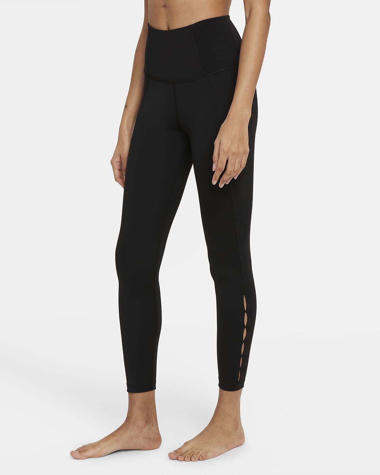 Leggings recortados de cintura alta de 7/8 para mujer Nike Yoga Dri-FIT