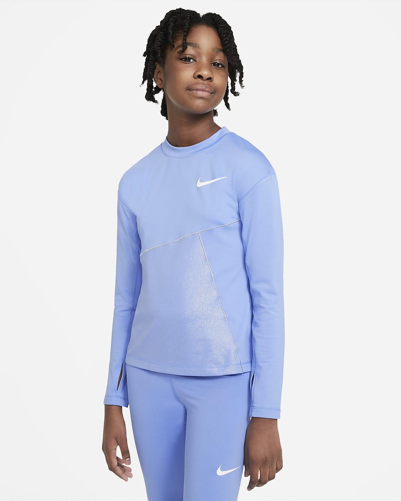 Nike Pro Warm Trainingsoberteil für ältere Kinder (Mädchen)