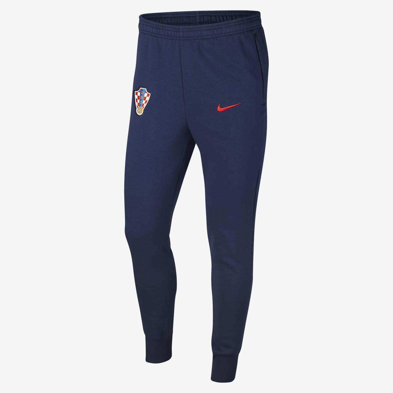 Pánské flísové fotbalové kalhoty Chorvatsko