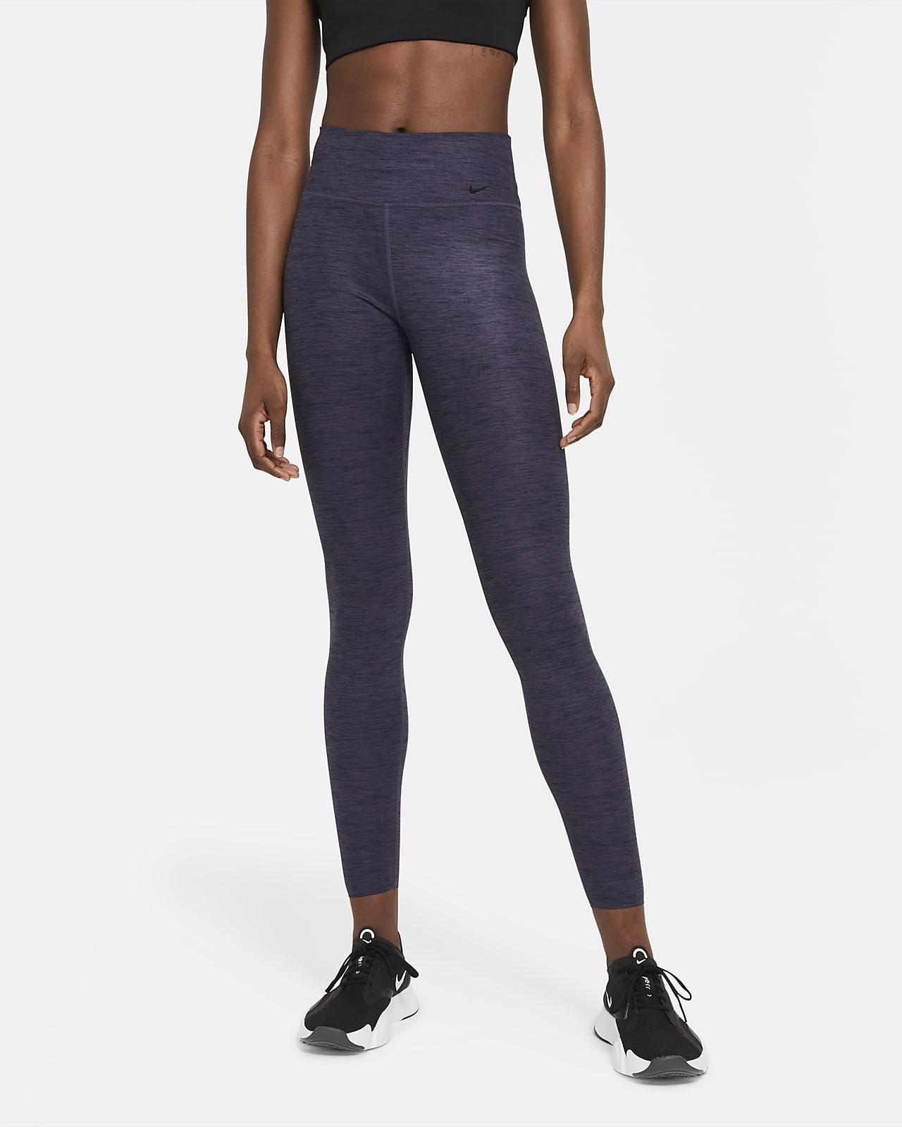 Γυναικείο μεσοκάβαλο κολάν με μελανζέ όψη Nike One Luxe