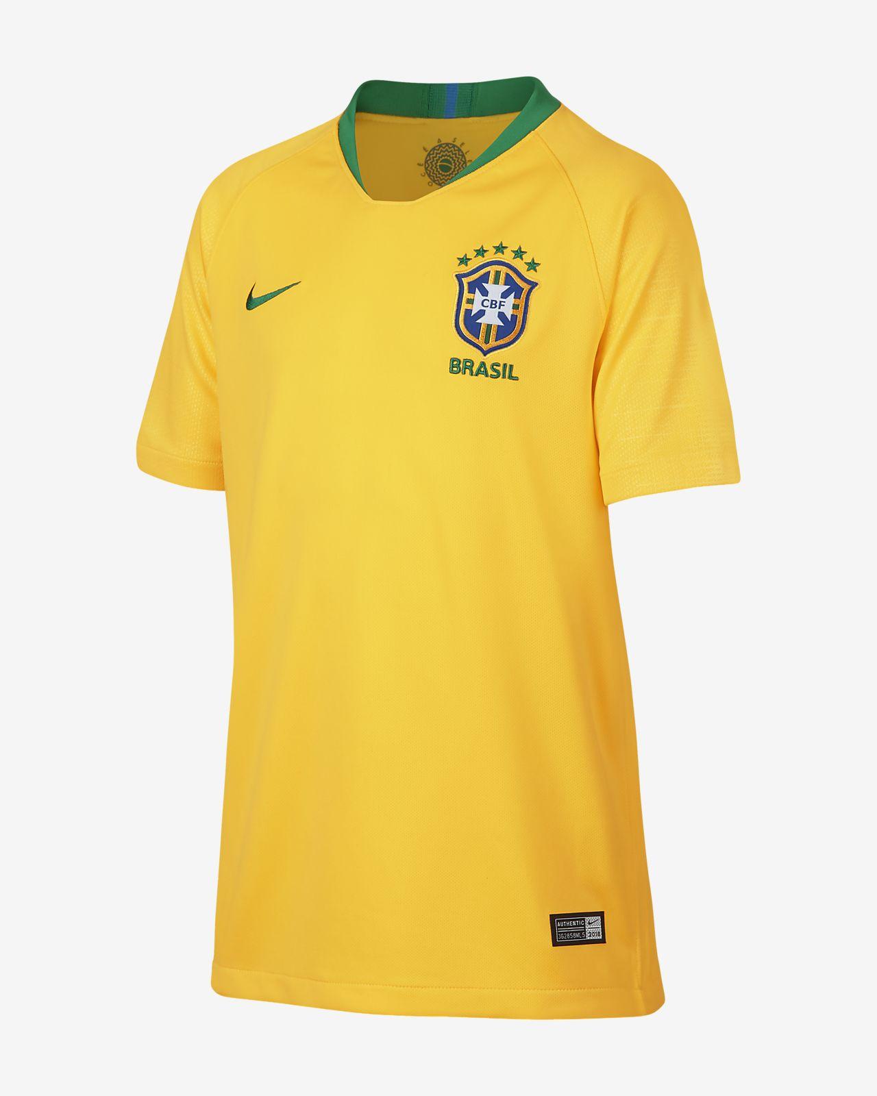 Fotbollströja 2016 Brasil CBF Stadium Home för ungdom