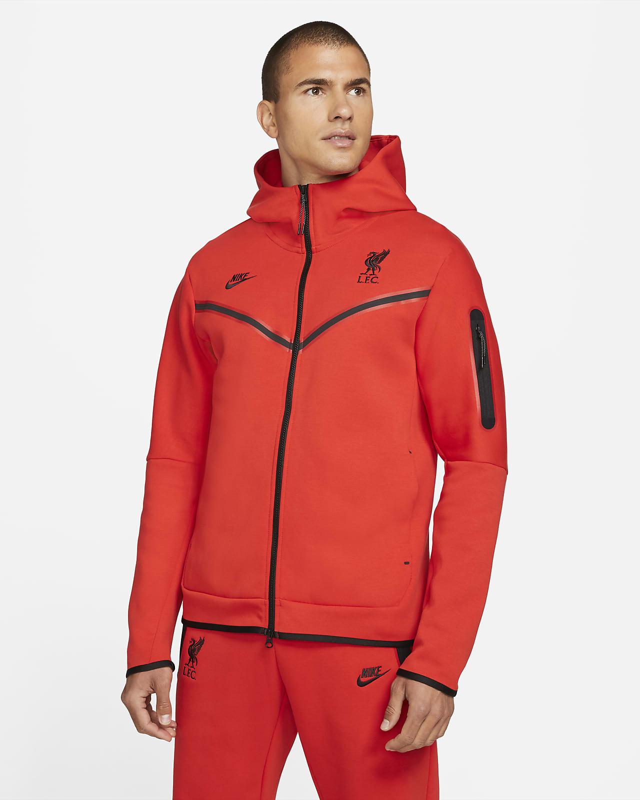 Liverpool F.C. Tech Fleece Windrunner Men's Full-Zip Hoodie
