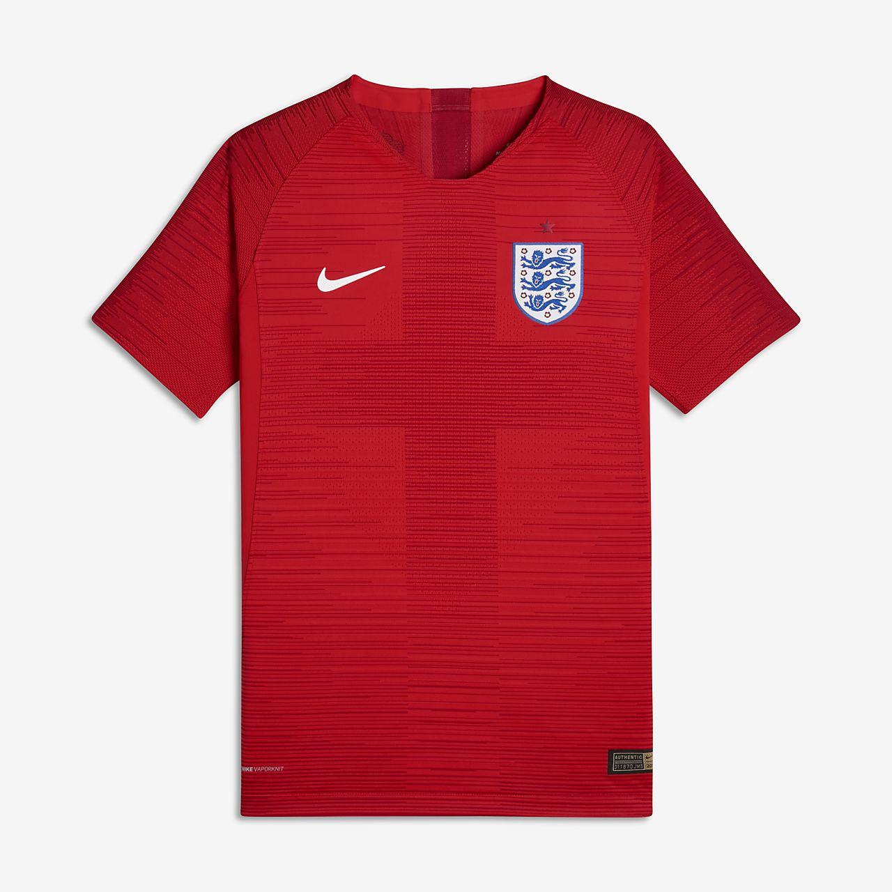 Fotbollströja 2018 England Vapor Match Away för ungdom (killar)