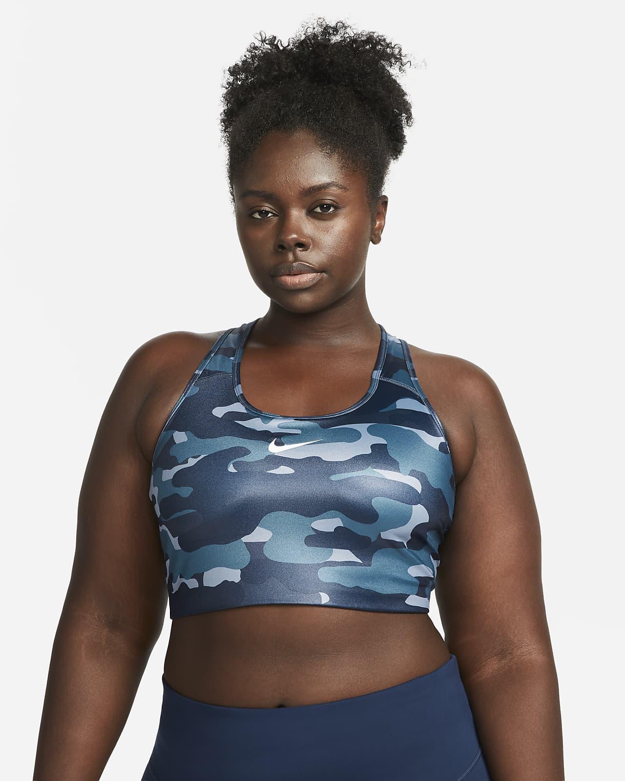 Nike Dri-FIT Swoosh Women's High-Support Non-Padded Sports Bra (Plus Size)
