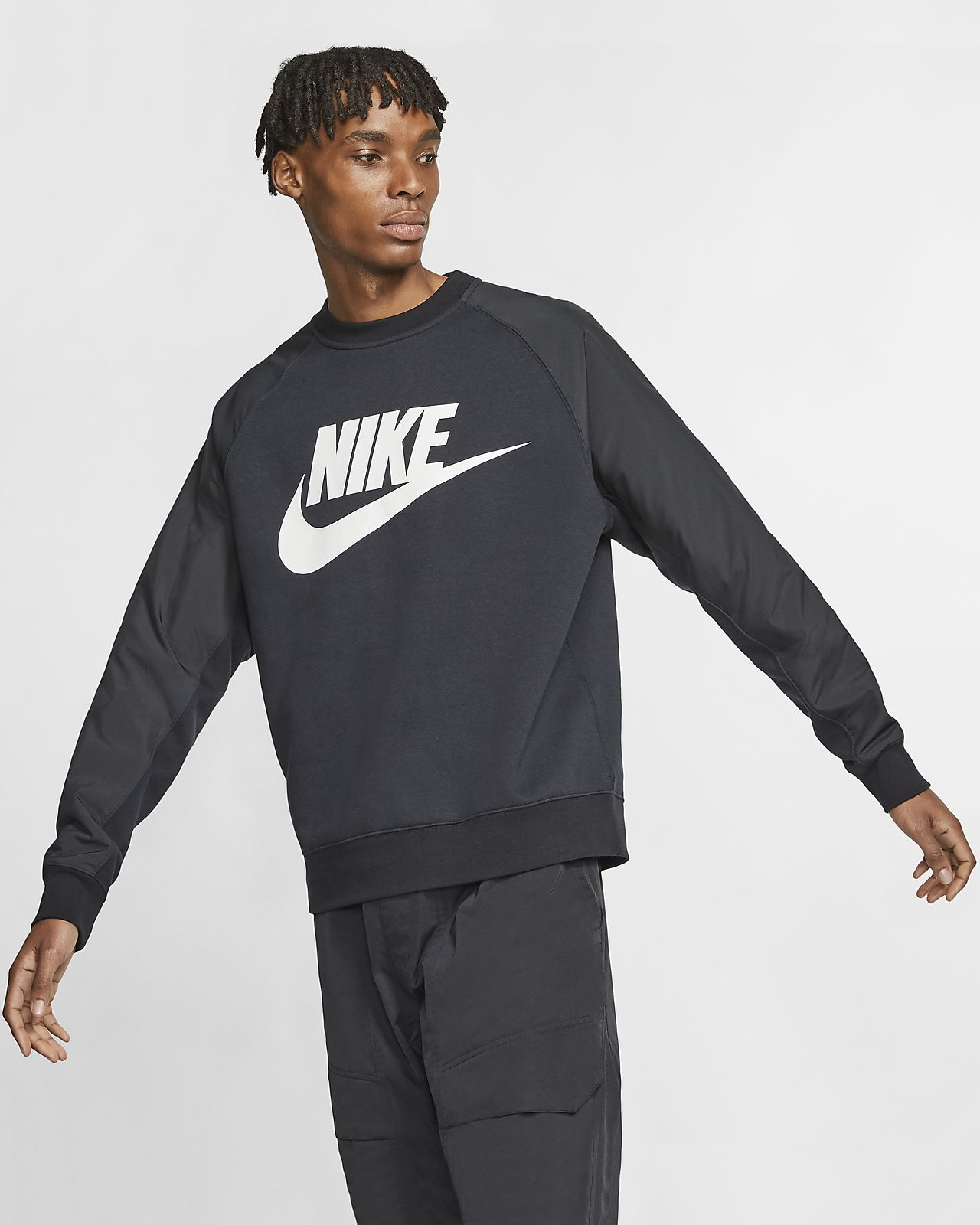 Nike Sportswear-crewtrøje med grafik til mænd