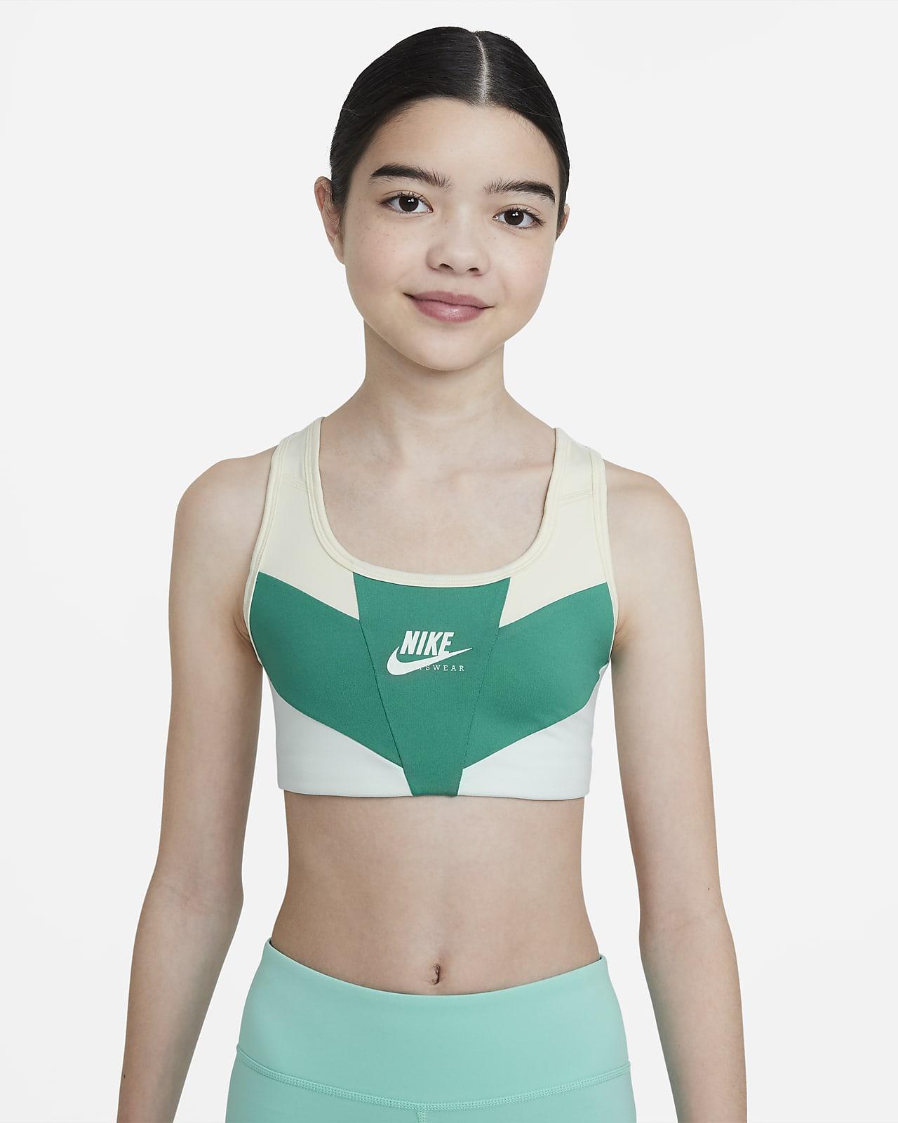 Sujetador deportivo para niñas talla grande Nike Swoosh