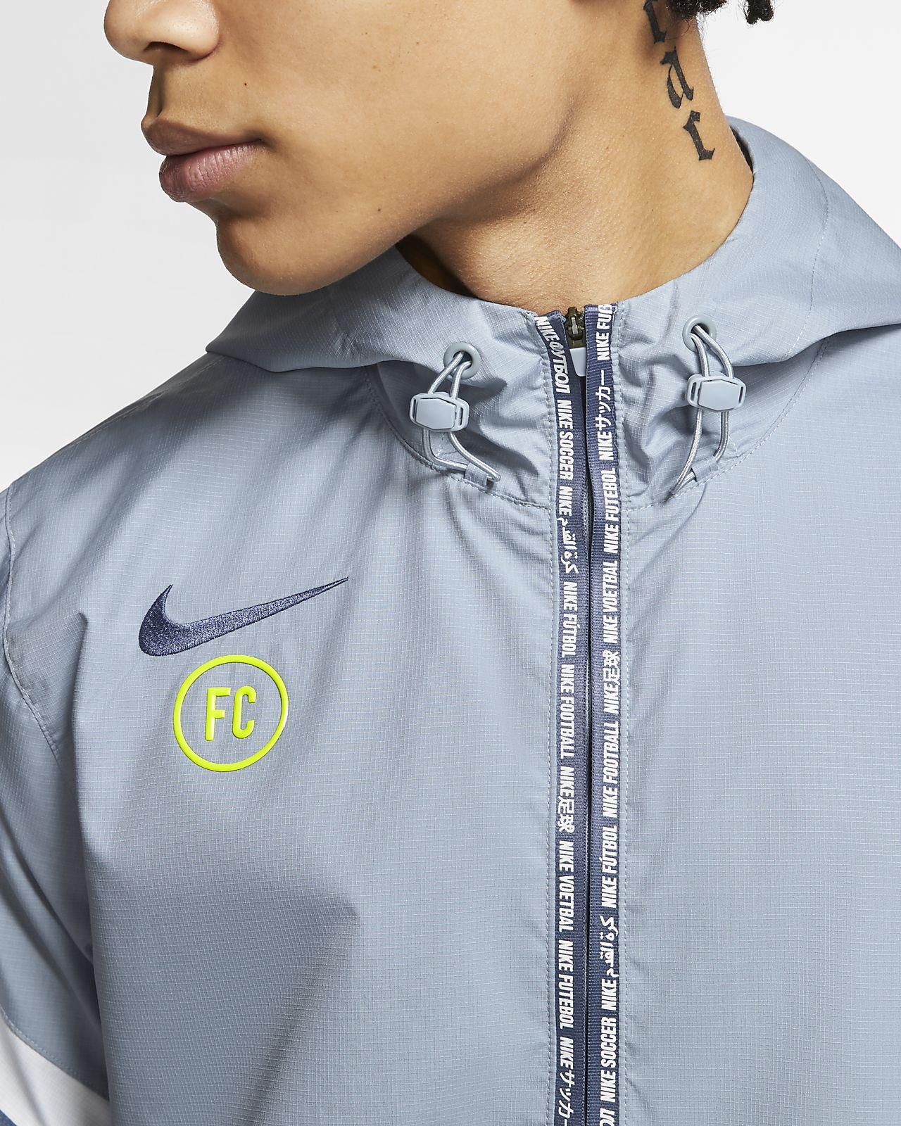 Train High neck Fleece Jacket In Blue