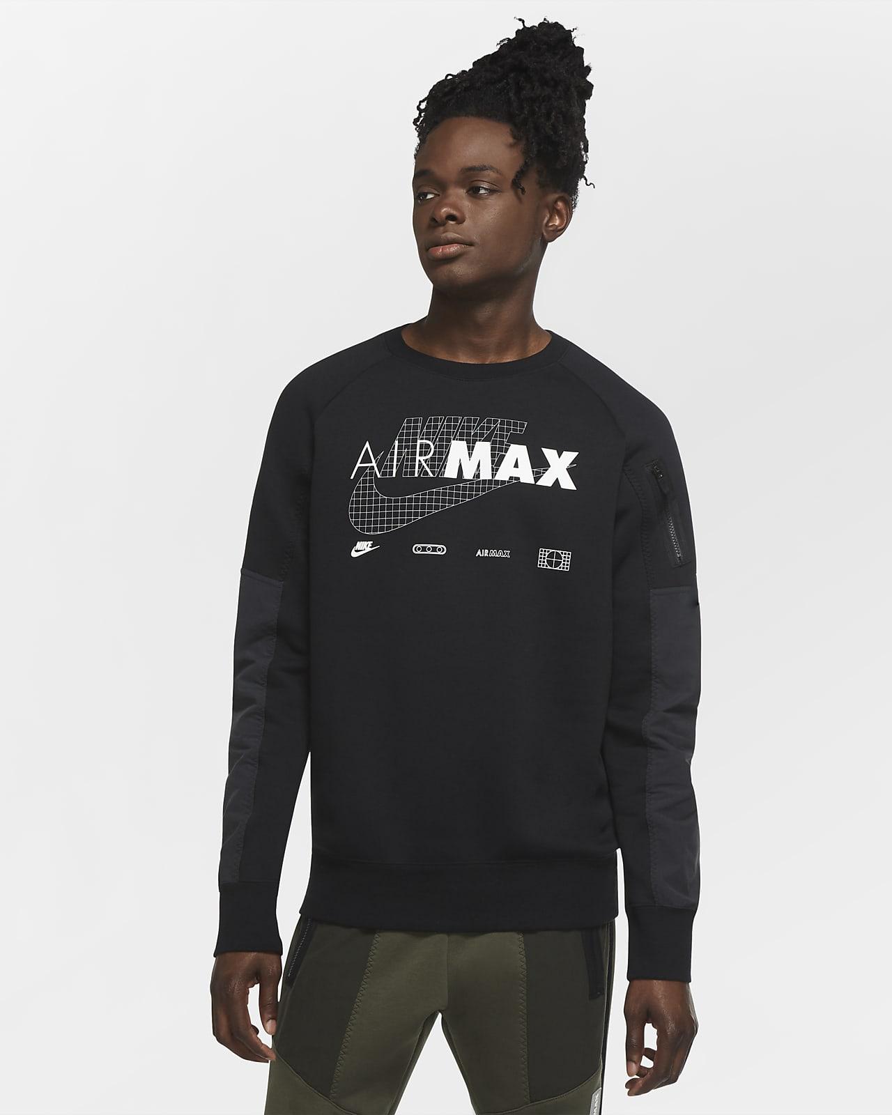 Nike Sportswear Air Max Fleece Erkek Crew Üstü