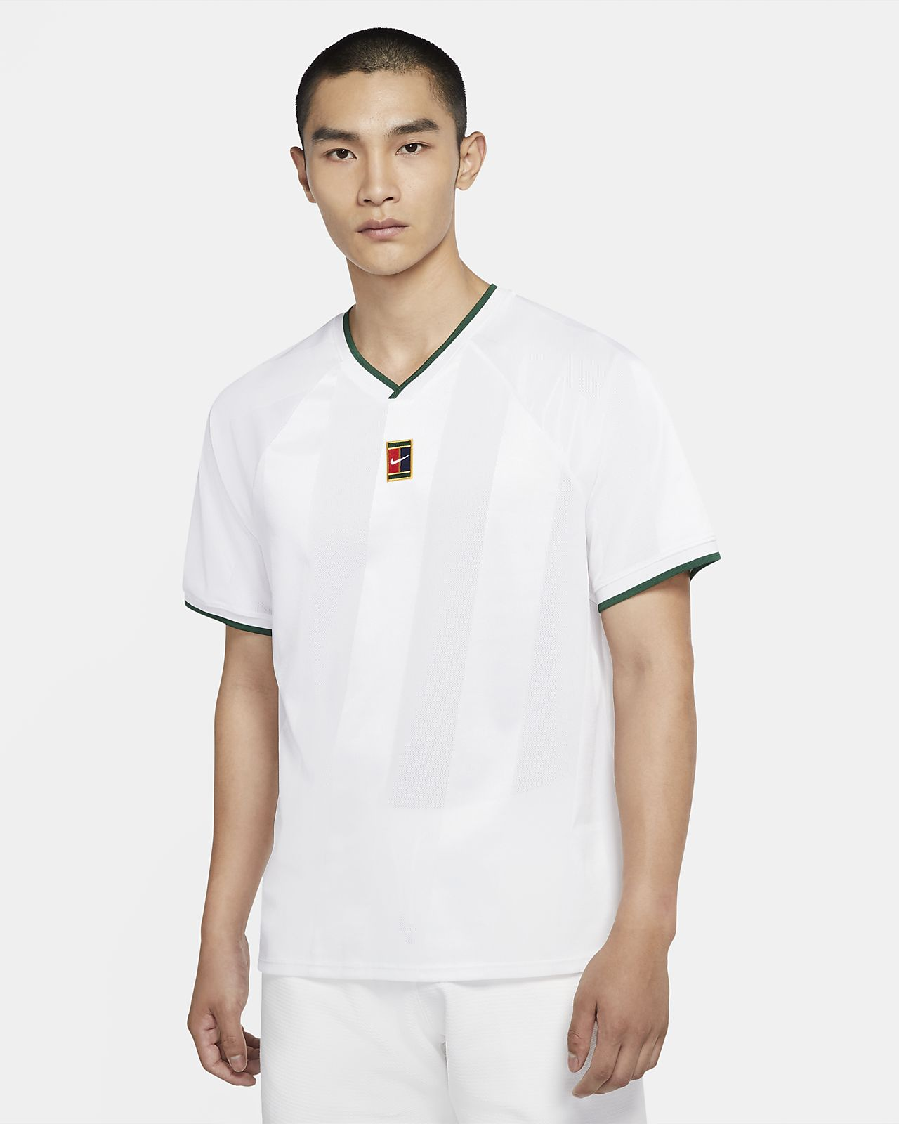 เสื้อเทนนิสผู้ชาย NikeCourt Breathe Slam