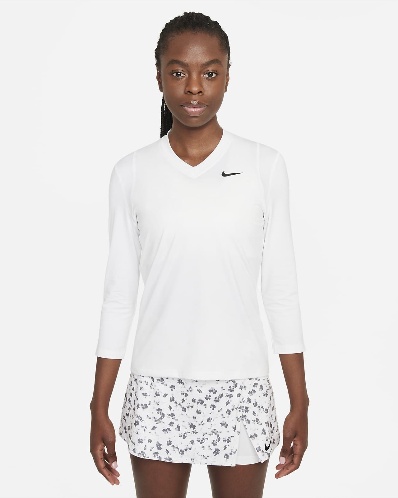 Playera de tenis de manga 3/4 para mujer NikeCourt Dri-FIT UV Victory