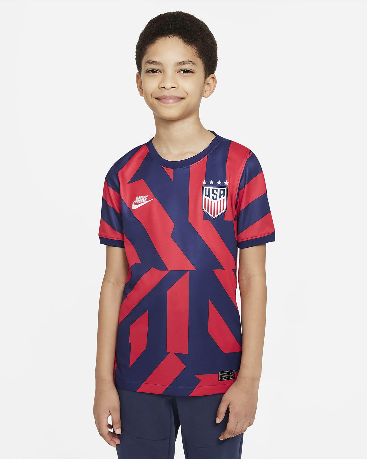 Camiseta de fútbol de visitante para niños talla grande Stadium de EE. UU. 2021