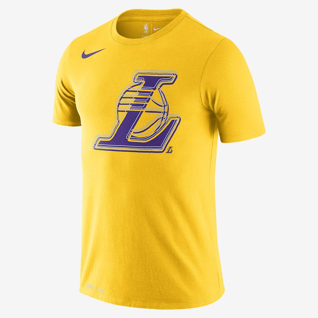 Tee-shirt NBA Nike Dri-FIT Los Angeles Lakers Logo pour Homme