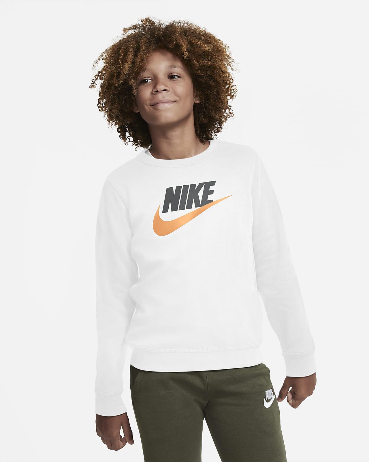 Nike Sportswear Club Fleece Big Kids' (Boys') Crew