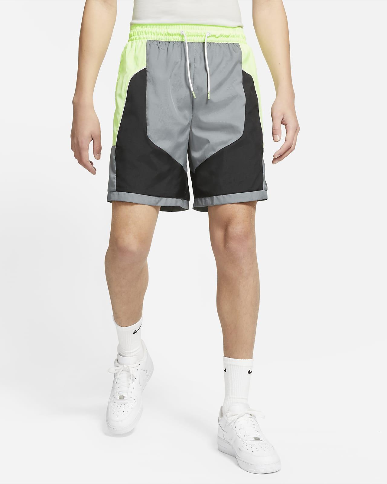 กางเกงบาสเก็ตบอลขาสั้นผู้ชาย Nike Throwback