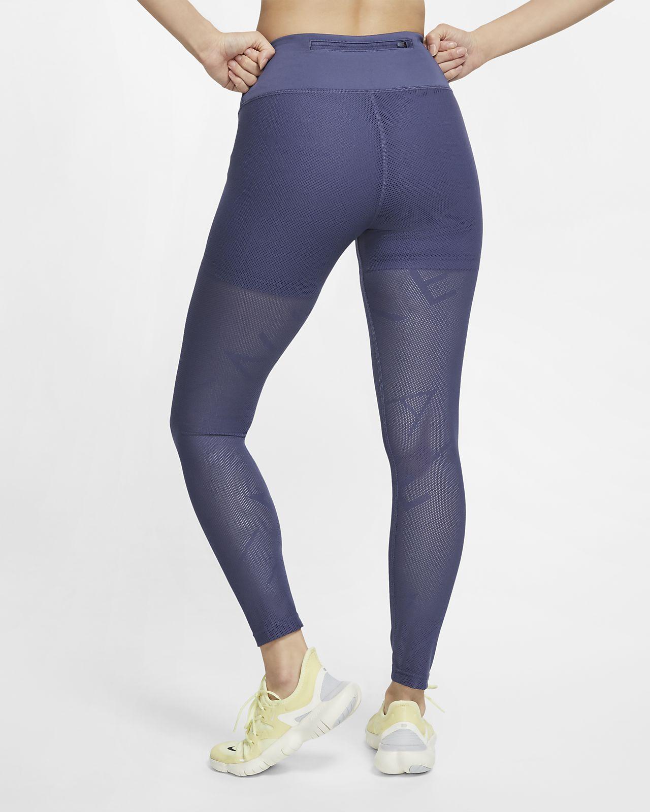 nike 7/8 leggings blue