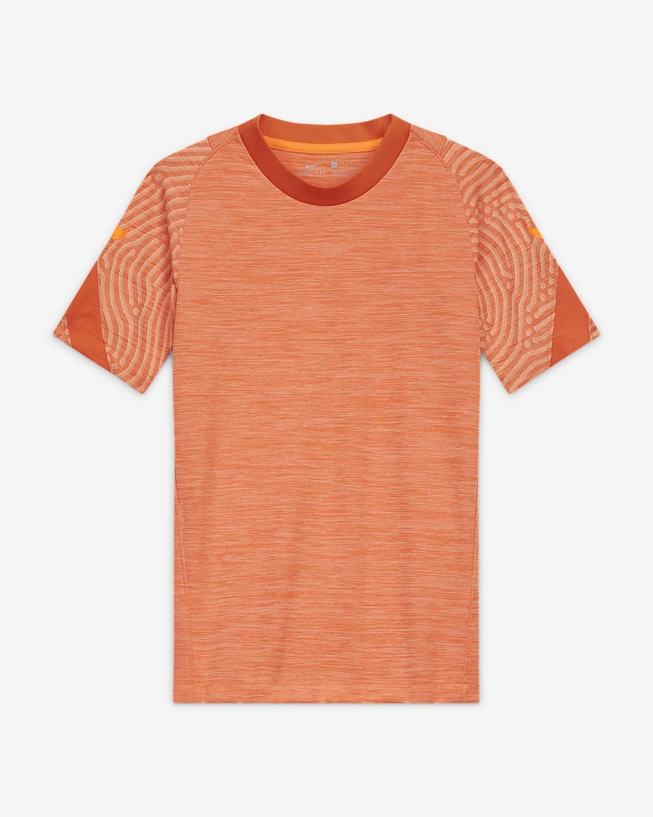 Fotbalové tričko s krátkým rukávem Nike Breathe Strike pro větší děti