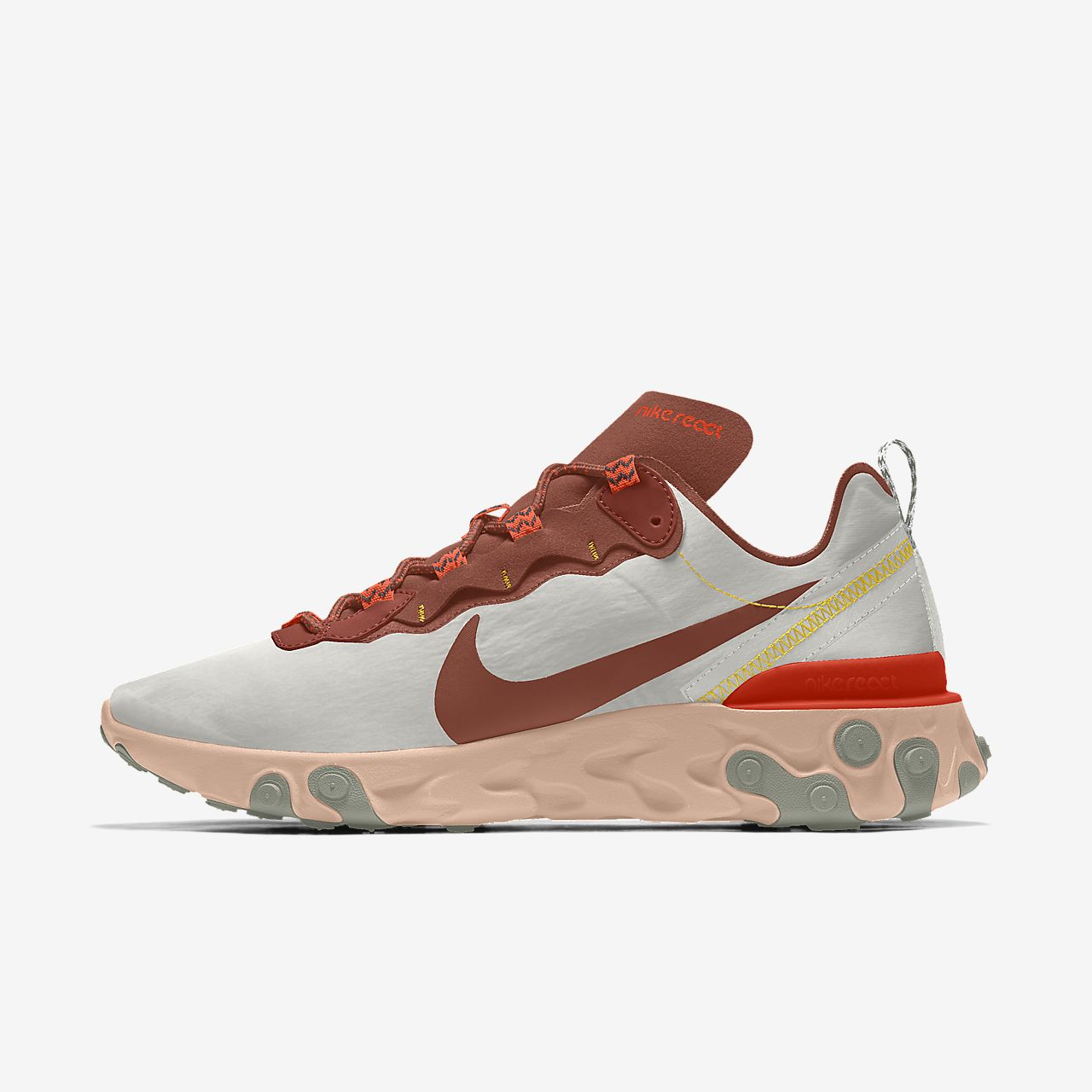 Chaussure personnalisable Nike React 55 Premium By You pour Homme