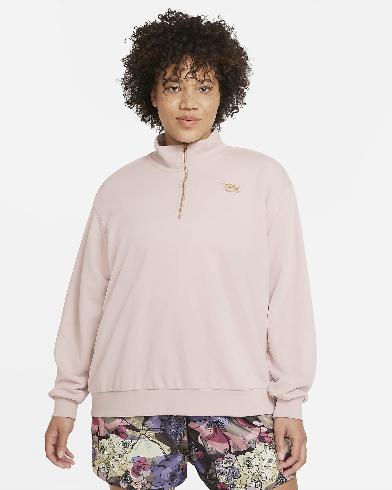 Sudadera con cierre de 1/4 para mujer talla grande Nike Sportswear Femme