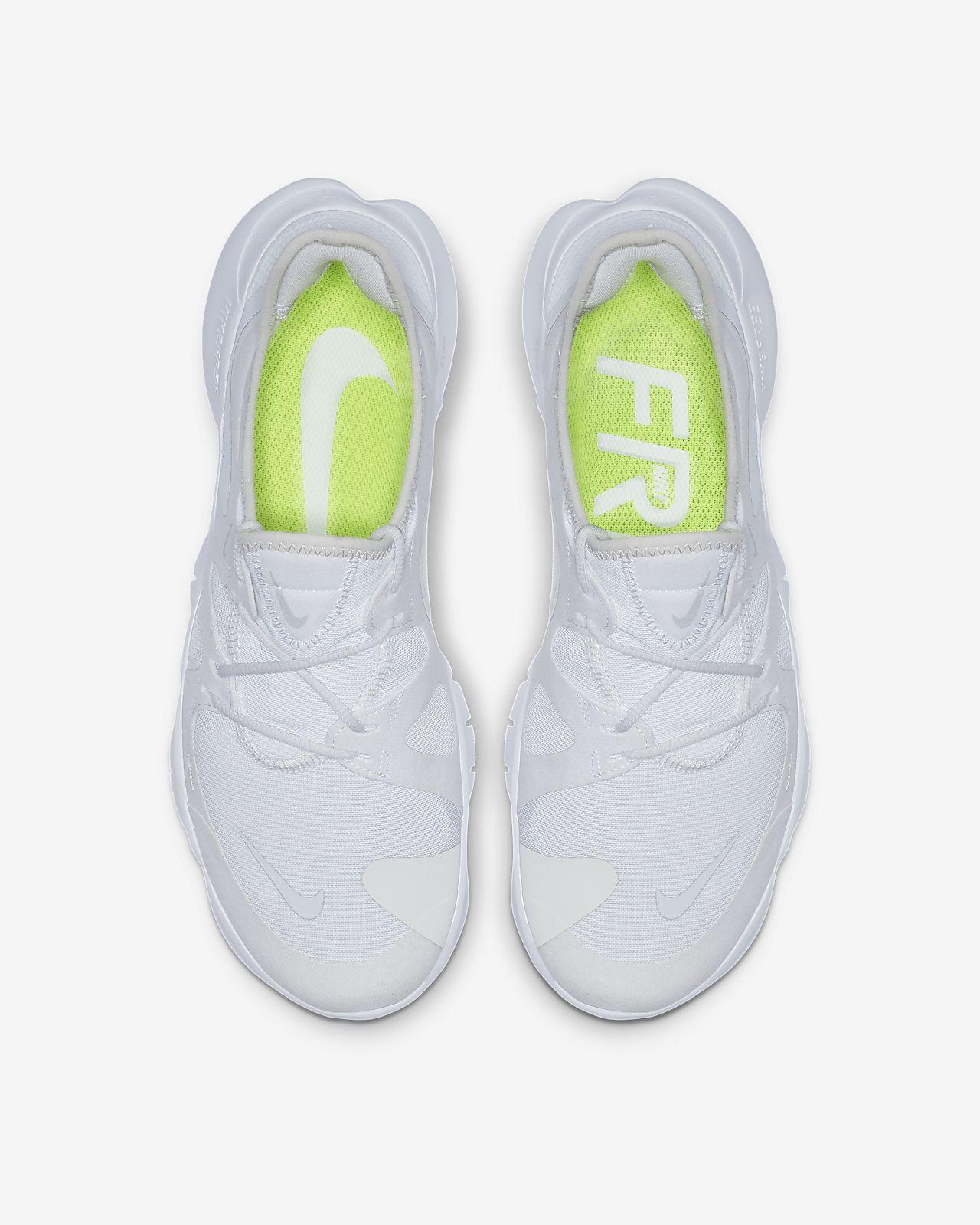 11.5, Platinum Tint//Pure Platinum//White//Volt Nike Free RN 5.0-Mens