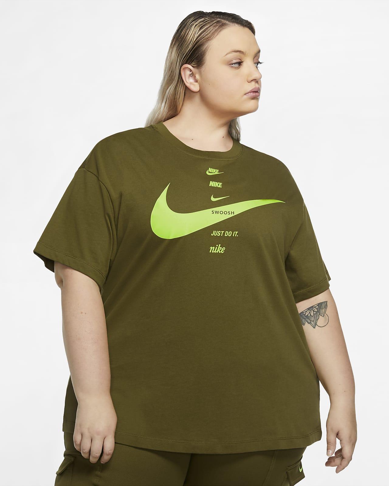 Haut à manches courtes Nike Sportswear Swoosh pour Femme (grande taille)