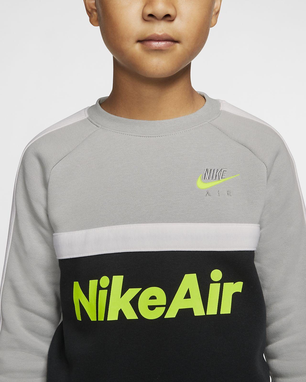 Nike Kids Boys Color Block Fleece Crew Neck Sweatshirt Little Kids Active  Active Sweatshirts