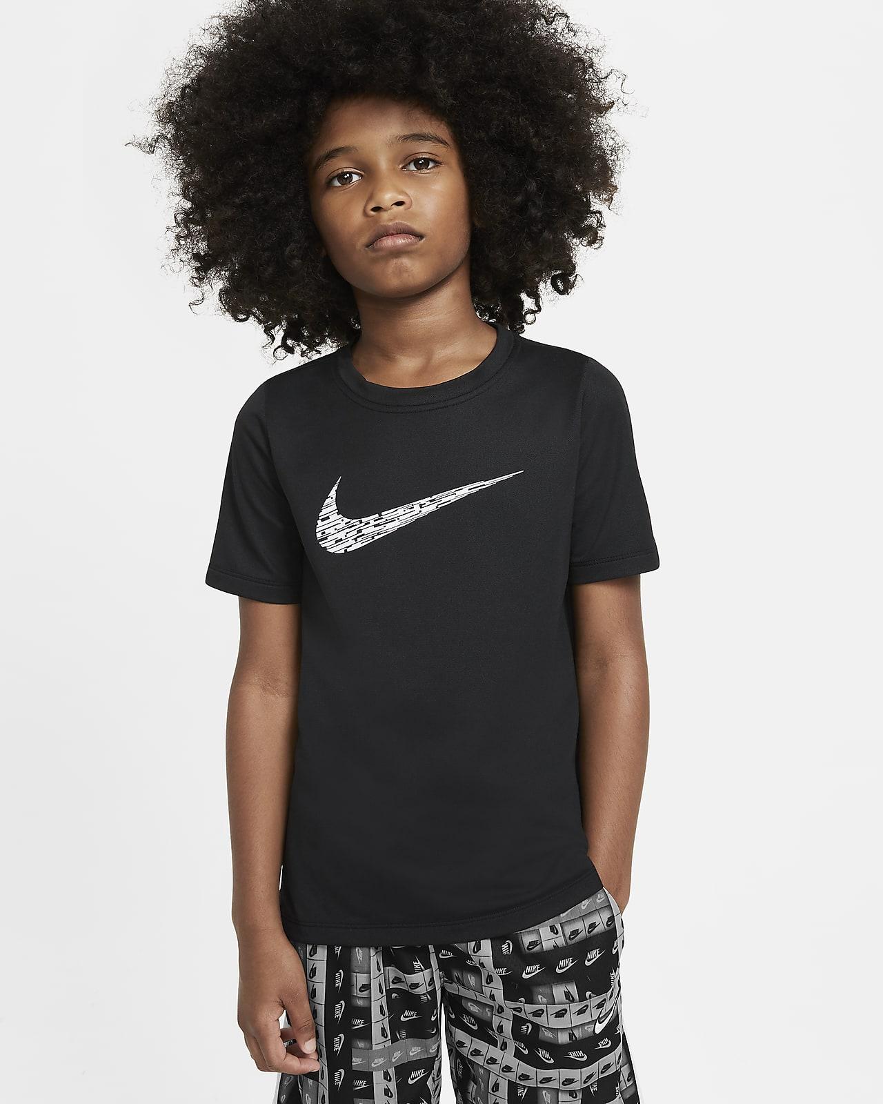 Κοντομάνικη μπλούζα προπόνησης Nike για μεγάλα αγόρια